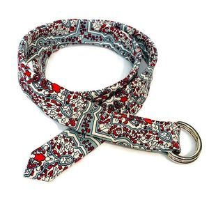 J. Crew Paisley Cotton D-Ring Buckle Belt Small